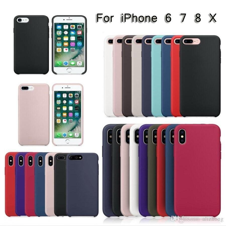Original Silicone Case For Phone i5 SE 6 6s 7 8 plus and ix official Phone Cover case with logo and packing box