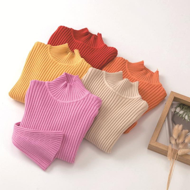 Childrens Sweater New Autumn And Winter Fashion Half High Collar