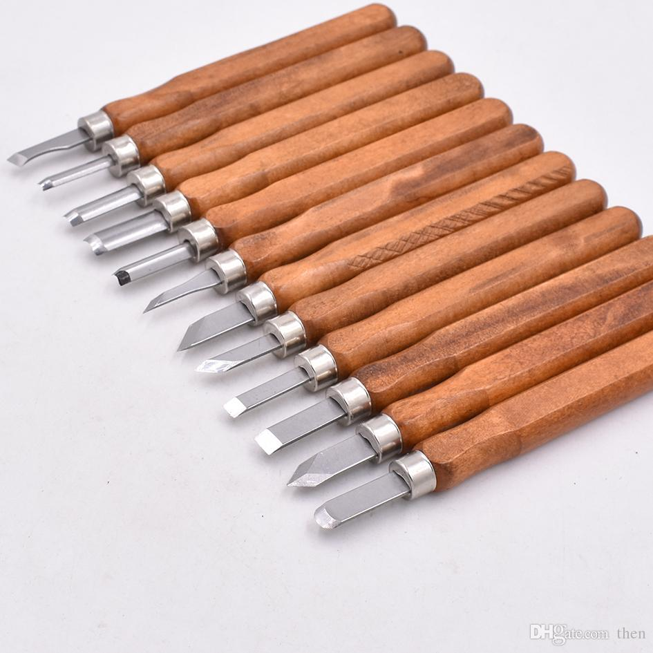 4 في 1 قطع نقش سكين النحت السكاكين حادة غريفر بورين نيك أداة البسيطة إزميل 4 قطع مجموعة أدوات نحت الخشب 100 مجموعة