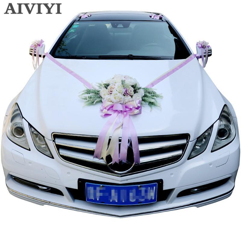 Grosshandel Kunstliche Blumen Hochzeit Auto Dekoration Sets Hochzeit