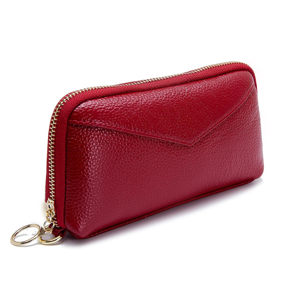 bd881003aa25 Women Wallet Genuine Leather Long Fashion Women Wallets Designer Brand Purse  Lady Party Wallet Female Card Holder Phone Pocket Online with  36.7 Piece  on ...