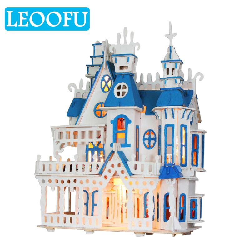 LEOOFU 3d Diy Wooden Doll Houses Miniature Dollhouse Furniture Kit Toys For  Children Christmas Gift New Yearu0027S Gift Doll House Dollhouse Sale Buy  Dollhouse ...