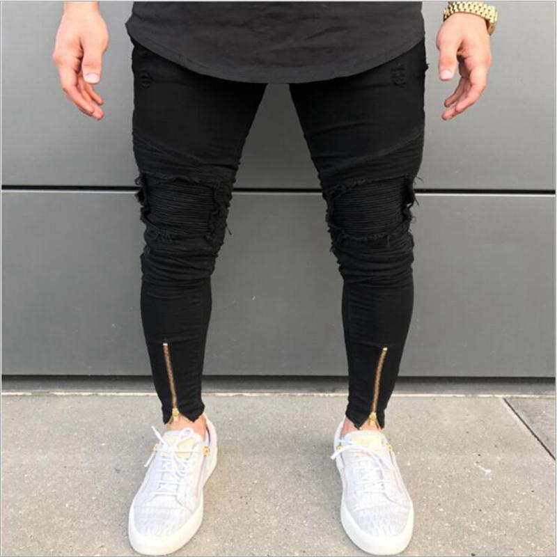 8b731fb95b 2019 Hot Sell Men Designer Jeans Black Jeans Men Casual Male Jean Skinny  Motorcycle High Quality Denim Pants 28 30 32 34 36 38 From Darnelly, ...