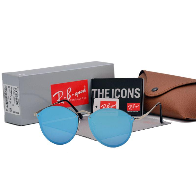 b12895015db7 Luxury Brand Vintage Round Sunglasses Women Brand Designer Cat Eye Sun  Glasses For Female Ladies Mirror with Original Box And Cases Brand  Sunglasses Brand ...