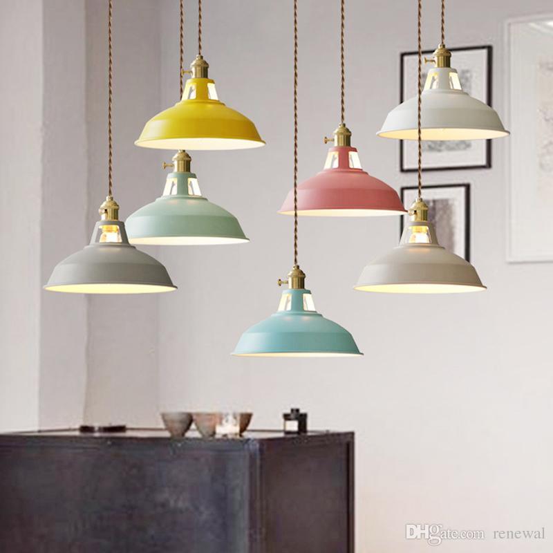 Compre Modernas Lámparas De Araña LED Luces Colgantes Comedor ...