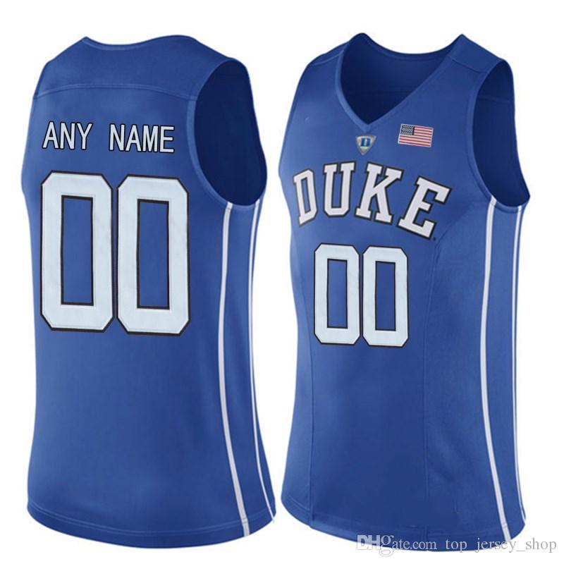 reputable site 75f26 a8e9d Men Customized Duke Blue Devils College Jersey Custom made any name number  stitched Blue White Black Basketball jerseys Cheap