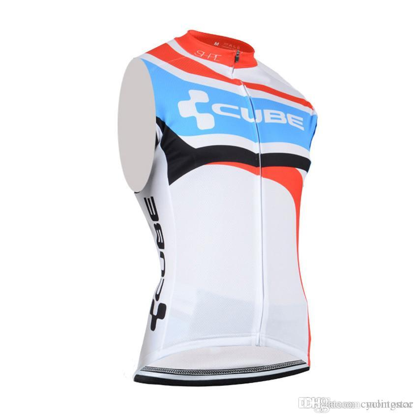Hot Sale! Cube Cycling Sleeveless Jersey Ropa Ciclismo Bicycle ... f99cb8cee