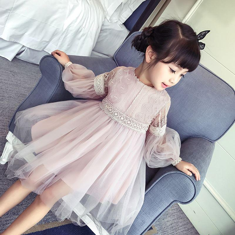 421f37558b824 Kids dresses for girls clothes 2018 Autumn children clothing girls dresses  long-sleeved princess dress embroidery vestidos 2-14Y