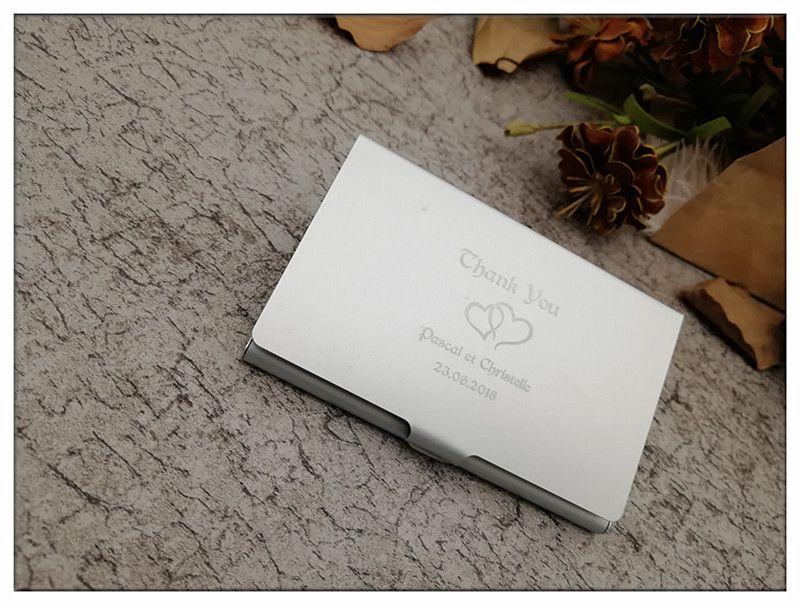 Bride Groom Personalised Business Card Case Holder Metal Box