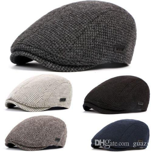 Men Warm Winter Cotton Knitted Gatsby Crochet Cap Driving Flat Sun Hat  Cabbie Beret Newsboy Ivy Hat UK 2019 From Guazi 3dc94bbb6f9
