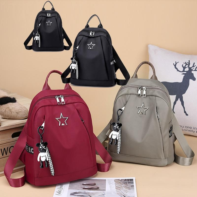 b78833950300 2019 Women Leather Satchel Travel School Backpack Anti-theft Bag ...