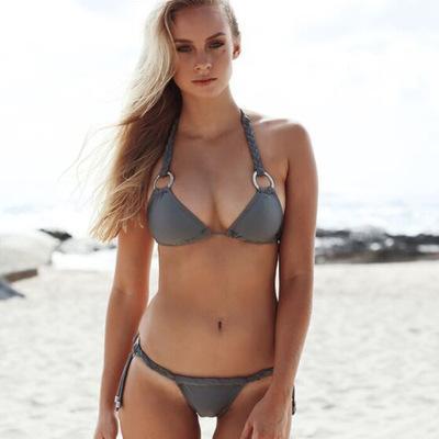 Sexy women in thong bikinis