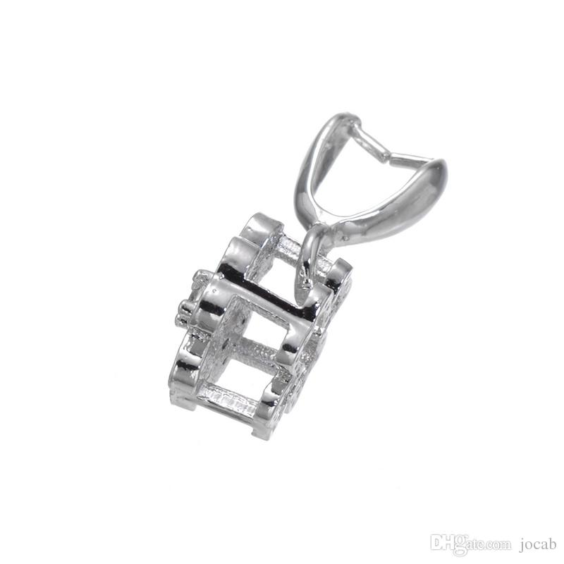 Wholesale Handmade Jewelry DIY Finding Accessories Agate Pendant Clasps Connectors Bails Pinch Clip Bail Link Pendant Components Fittings
