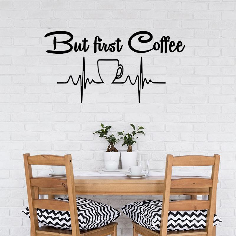 wall decal cup of coffee wall sticker modern design cafe kitchen