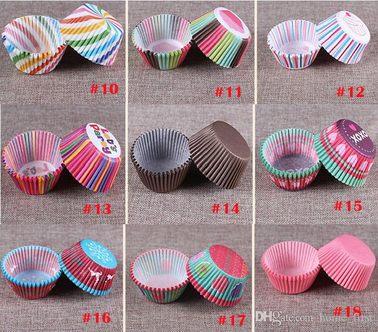 Environnment Colorful Cake Paper Foil Resistance Temperature Chocolate Baking Paper Cupcake Independent Packaging More Style