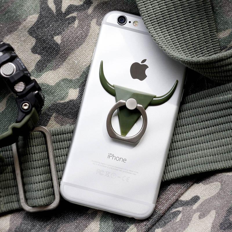 Estilo de touro fresco 360 graus de rotação multifunções celular suporte de metal suporte para iphone 8 6 plus fivelas anel titular para samsung s7