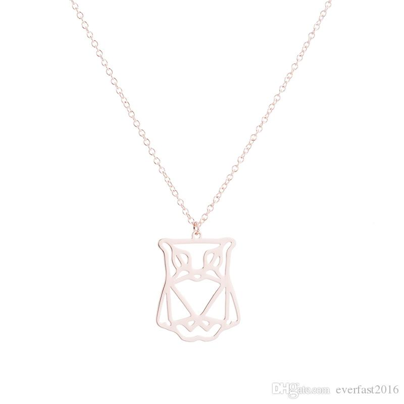 Wholesale Everfast New Fashion Cutting Owl Origami Pendants