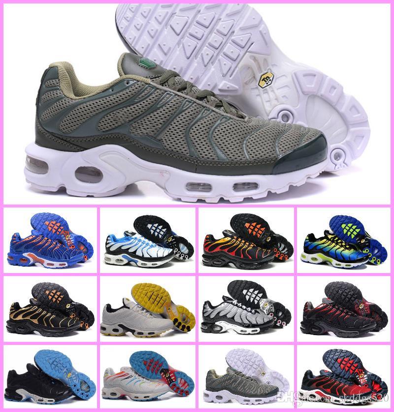 c7c6bd85c386 Acheter NOUVEAU 2018 TOP Original Air TN Plus Mens Running Shoes Respirant  Mesh Chaussures Homme Tn REqUin Noir Sport Sneakers Homme Tennis Maxes  Chaussures ...