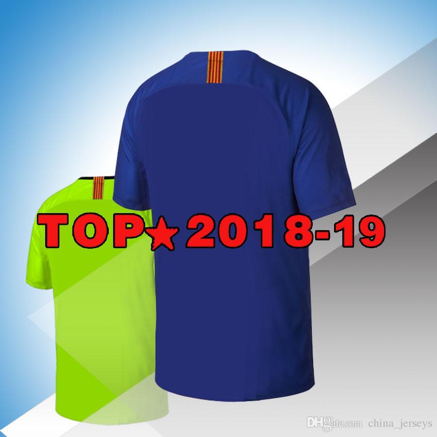 f55cab086a1eb9 2018 19 camisolas coutinho 7 Camisolas 9 SUAREZ Camisas Messi DEMBELE  Camisa de Futebol Camiseta de futbol third 3RD