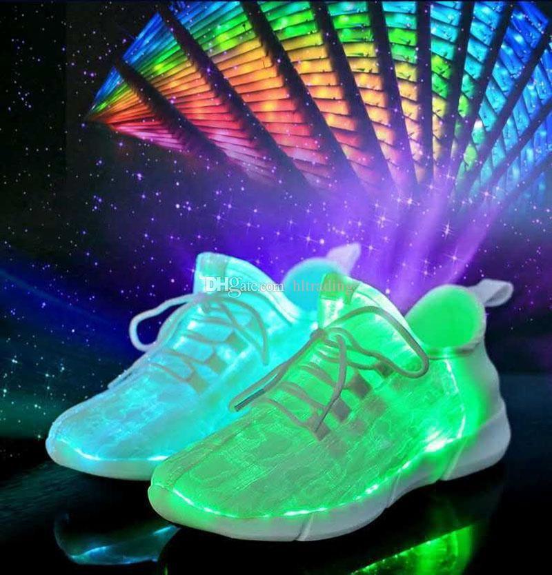 168c57fa9b044 Acheter Grands Enfants LED Chaussures Adolescent Casual 3 Couleurs Luminous  Chaussures Coloré Rougeoyant Light Up Sneakers USB Charge Clignotant  Chaussures ...