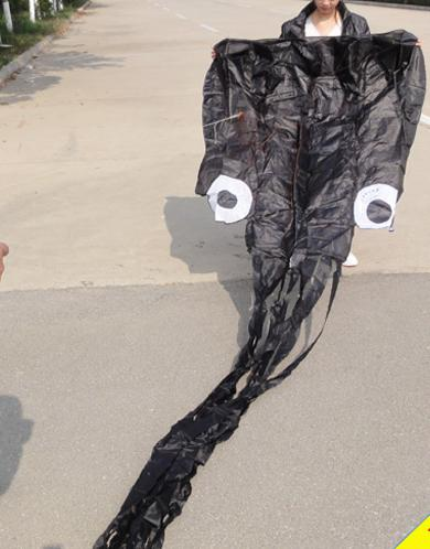 Livraison gratuite !! vente chaude 5,5 m simple ligne Stunt Black Octopus POWER Sport cerf-volant