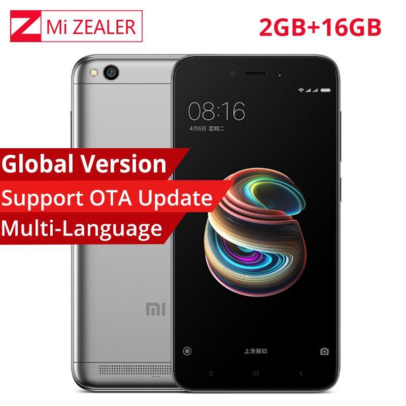 Global version Xiaomi Redmi 5A 2GB RAM 16GB ROM Mobile Phone Snapdragon 425  Quad Core CPU 13 0MP 5 0 Inch Mobile Phone