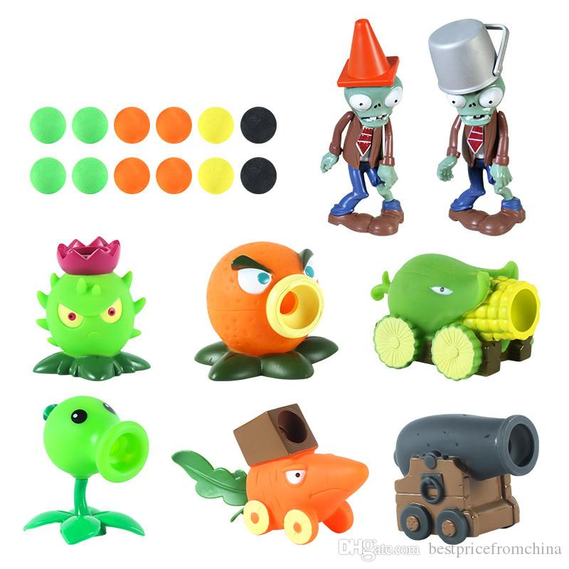Plants vs Zombies Snow Pea ABS Shooting Bullets Figure PVZ Toy Doll Kids Gift