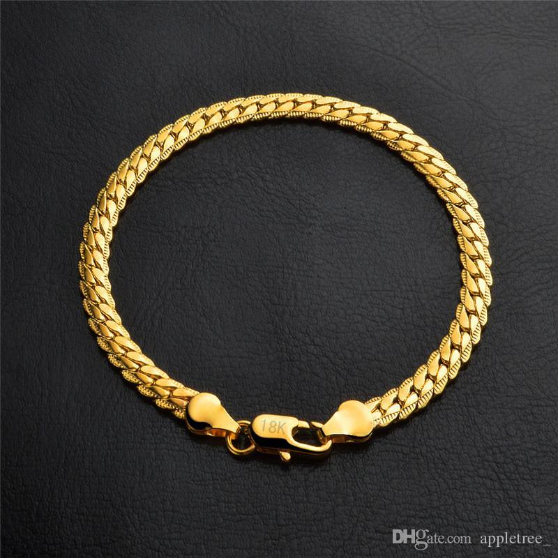 Großhandel 18K Gold Silber Kette Armband Plattiert Chunk Armband Chunky  Armbänder Männer Schmuck Herren Schmuck Mann Mode Accessoires Großhandel  Von ... 93abf8c3bd