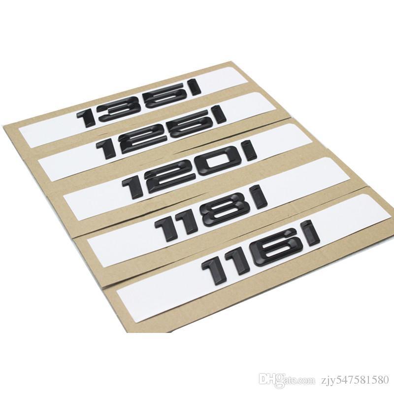 116i 118i 120i 125i 130i 135i emblèmes de botte arrière de voiture numéro lettre insigne style pour BMW 1 Série E81 E82 E87 E88 F20 F21 emblème