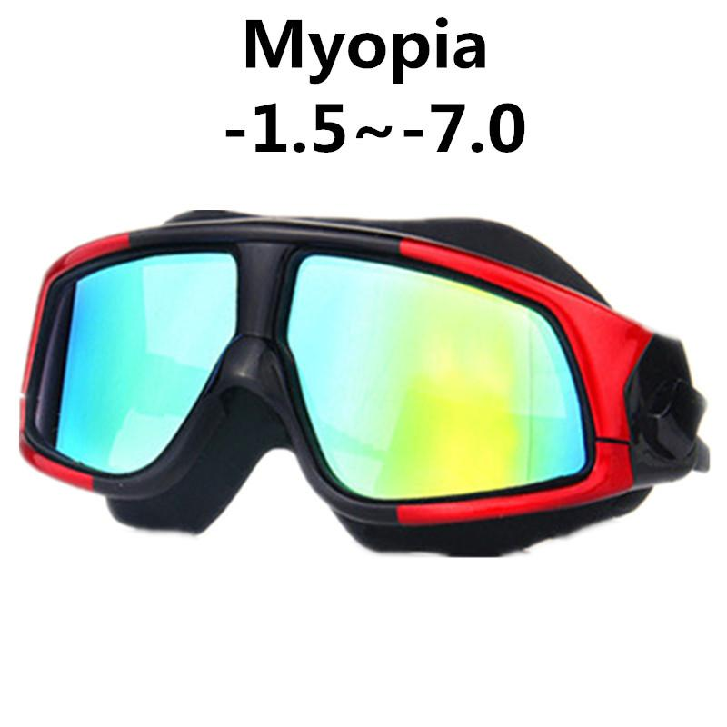 402a0ffef0 2018 Swimming Goggles Silicone Frame Myopia Swim Glasses Anti Fog UV Men  Women Diopter Swim Eyewear Mask Waterproof WAVE 1.5~ 8.0 From Jersey168