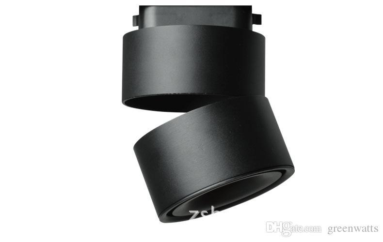 트랙 빛 2 전선 LED 트랙 램프 COB 12 와트 LED 레일 스포트 라이트 천 신발 가게 매장 DHL