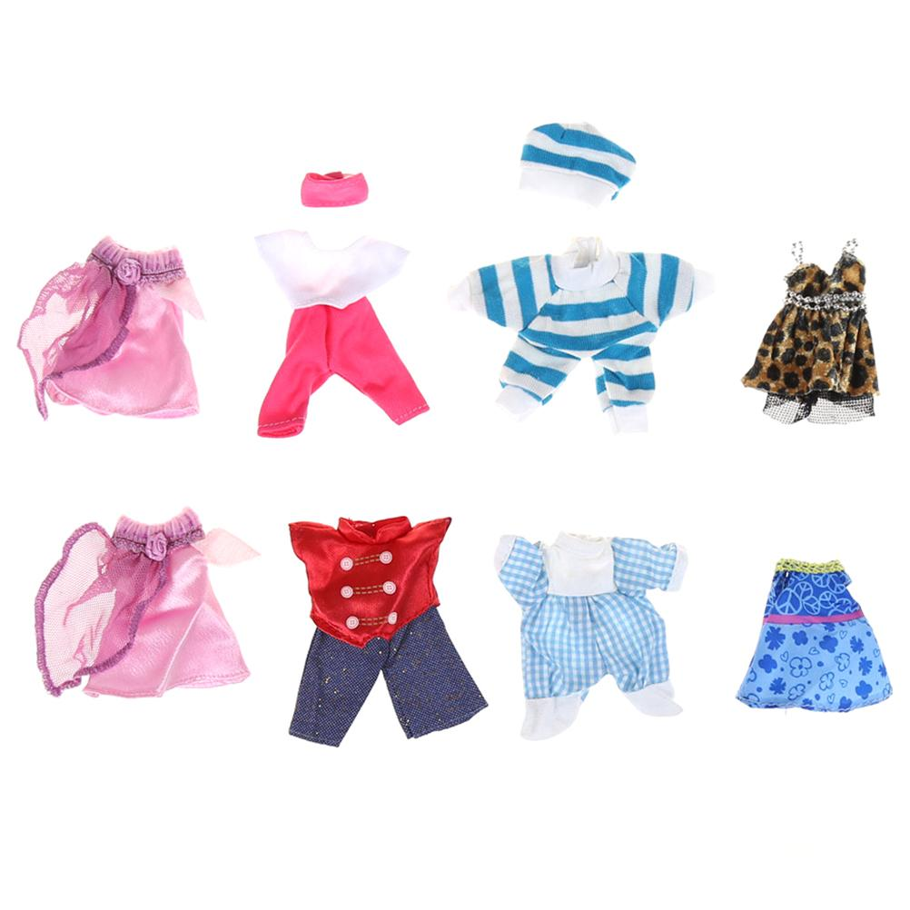 e35807ee43159 5 Set Cute Beautiful Handmade Clothes Dress Mini For Kelly or For Chelsea  Doll Outfit Gift Girls Love Baby Toy Random Pick