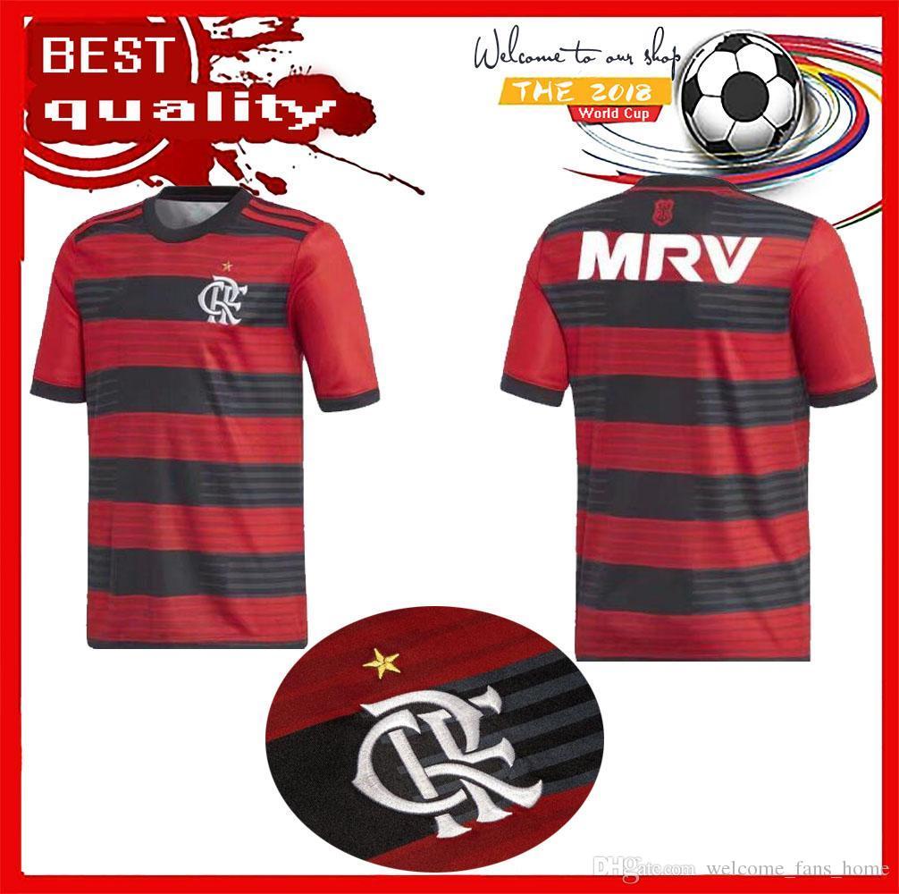 2018 Flamengo Soccer Jerseys 18 19 Flamenco DIEGO GUERRERO E .Ribeiro  MANCUELLO VINICIUS JR Brazil League 18 19 Flamengo Jersey 1 1 Quality REUS  Soccer ... ca0a2c211