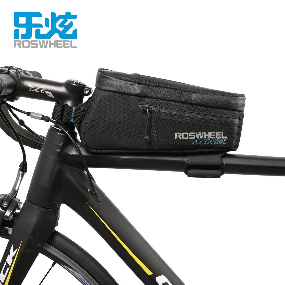 21194a7b917 2019 ROSWHEEL ATTACK Series Waterproof Bicycle Bike Bag Accessories Saddle  Bag 2018 Waterproof Cycling Front Frame Bag 2018 Waterproof From Emonder,  ...