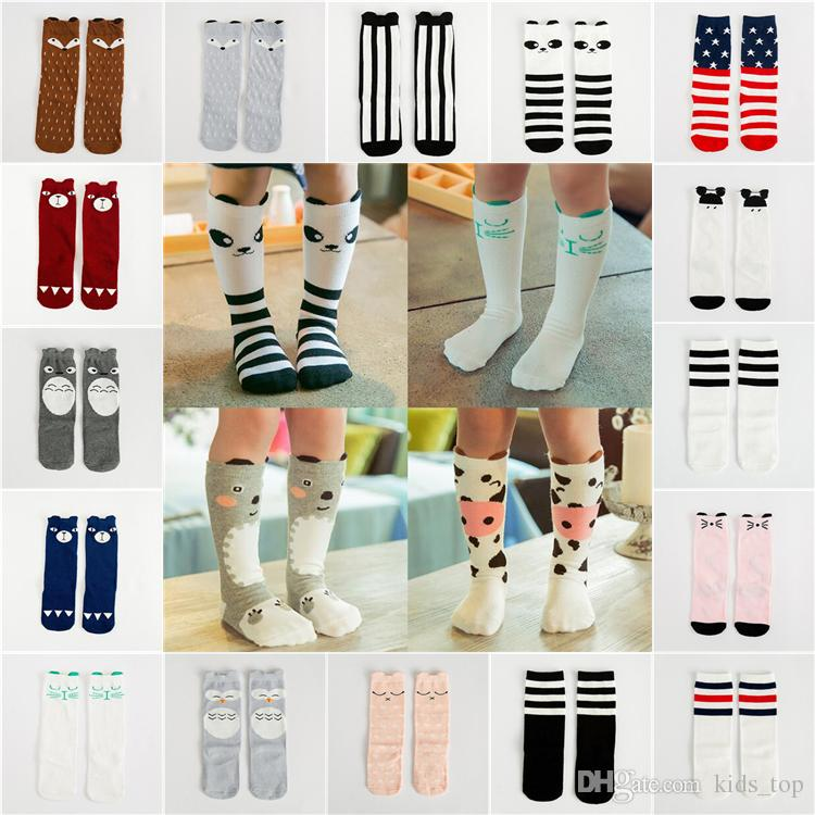 7c1ca7d255d 0 6 Years Old Kids Cartoon Animal Leg Warmers Baby Girls Boys Knee High  Totoro Panda Fox Socks Kids Cute Striped Knee Socks LA579 2 Non Skid Socks  Cool ...