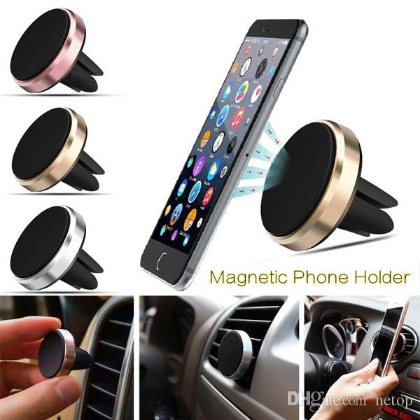 Retail Sale Netop Cell Phone Mounts for Car drving Magnetic Phone Holder Catch Car Air Vent For Easy Navigation for Iphone 8