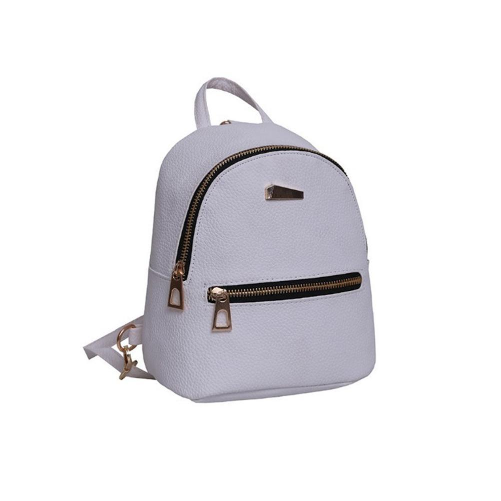 2d826448b0 2018 New Women Girls Mini Faux Leather Backpack Rucksack Bag New School  Book Bag Travel Solid Zipper Book For Girls Hot Tool Backpack Best Laptop  Backpack ...