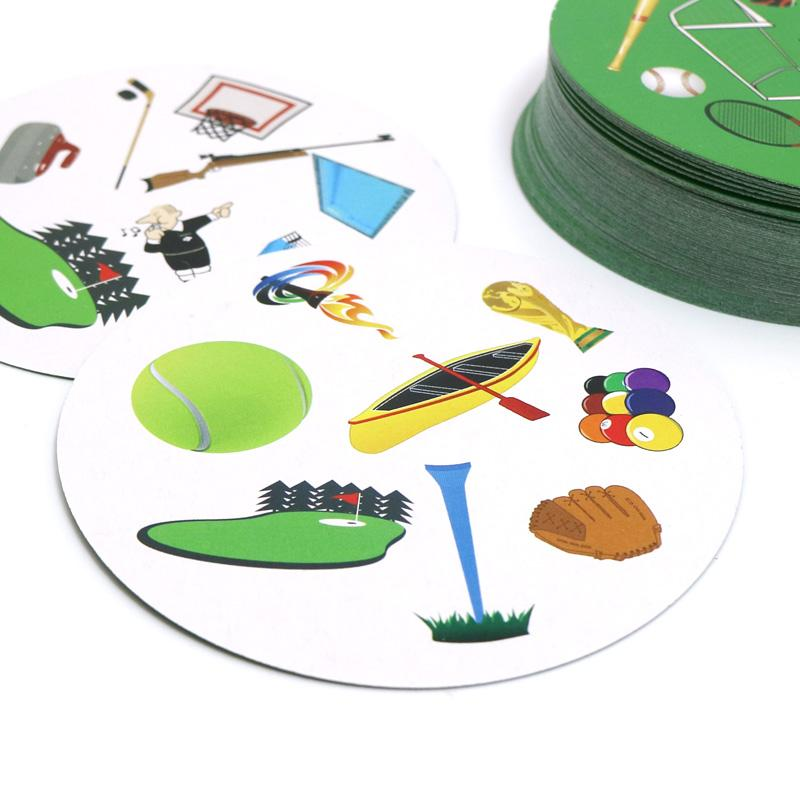 Romancard Flash Pair sport card game football surfing Golf for ages 5+ spot to sports love it board game children education