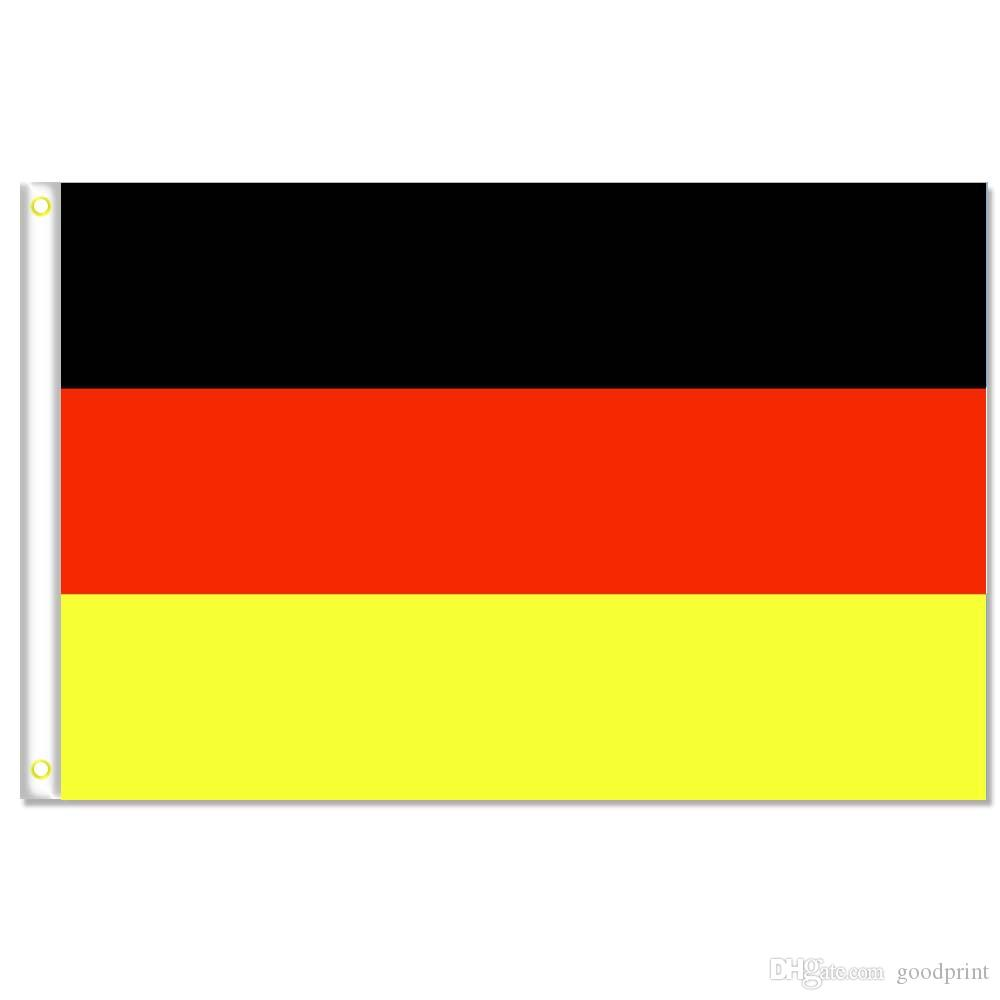 Germany flags banner Size 3x5FT 90*150cm with metal grommet,Outdoor Flag