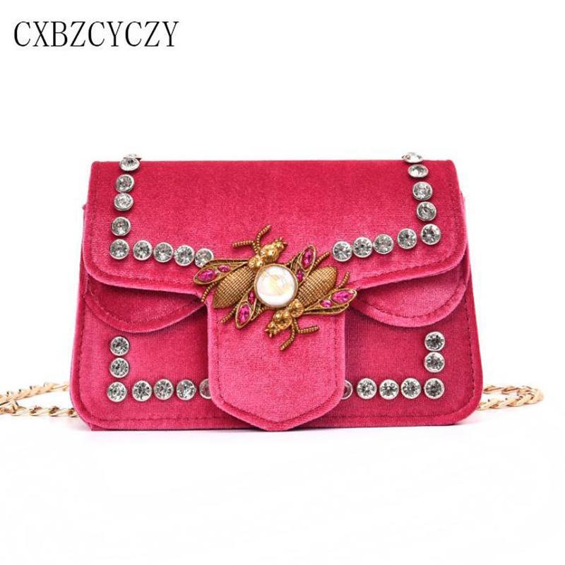 Small Luxury Handbags Women Bags Designer Shoulder Bag Girl Famous Brand  Velvet Chain Crossbody Messenger Bag Clutch Bag Bolsas Purses On Sale Hobo  Purses ... a204a28958ebb