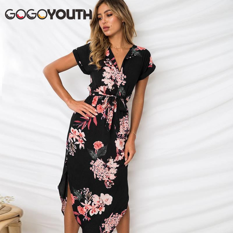 6ac7e584c9d Gogoyouth Long Bohemian Women Summer Dress 2018 Vintage Plus Size Tunic  Beach Dress And Sundress Black Party Dress Robe Femme Dress for Women Long  Dresses ...
