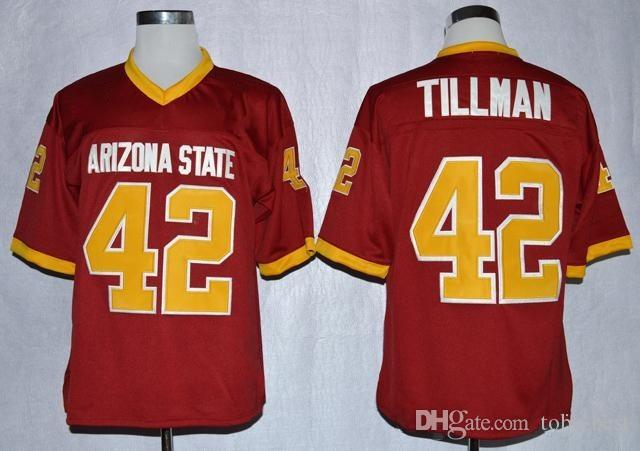 lowest price ba457 64353 NCAA Arizona State Sun Devis College #42 Pat Tillman Jersey ASU 1997 Rose  Bowl Stitched Pat Tillman Home Maroon University Football Jerseys