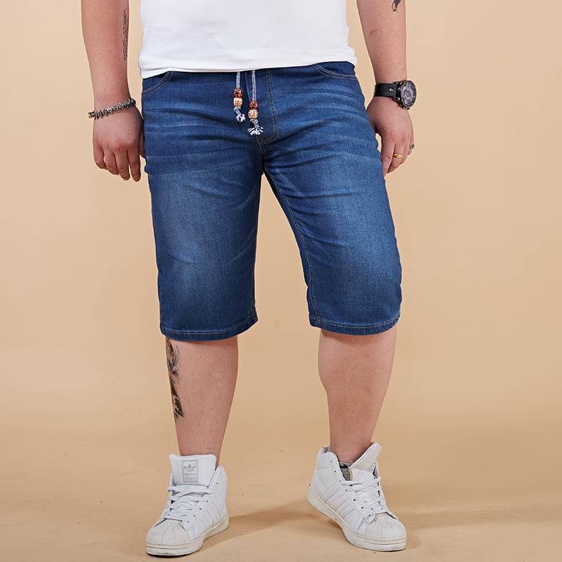 Großhandel 2018 Sommer Licht   Tiefblauen Denim Shorts Herren Jeans Mode  Lässig Herren Shorts Trendy Hohe Qualität Große Plus Größe 28 44 46 48 Von  Beke, ... 937637bc04