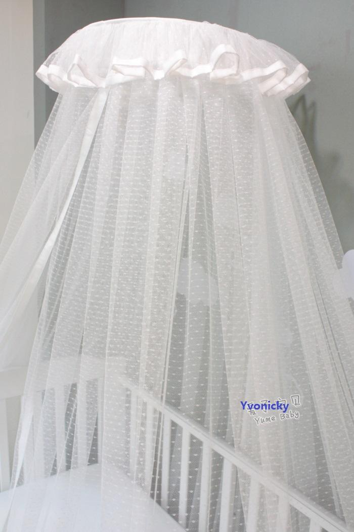 Luxury Princess Baby Crib Mosquito Net Brief White Infants Bed ...