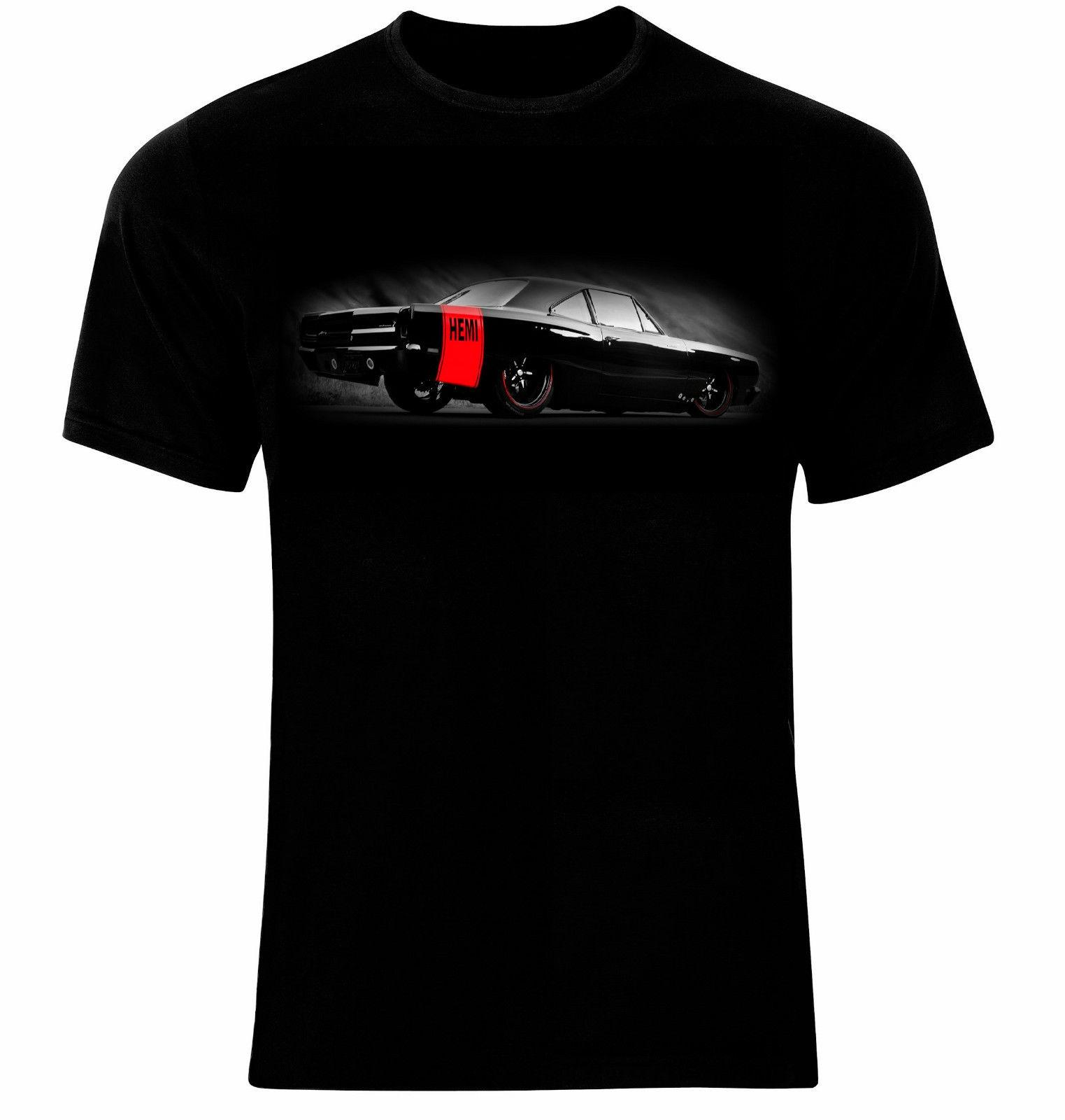 Hemi Dodge Charger American Muscle Car Manner Printed T Shirt All