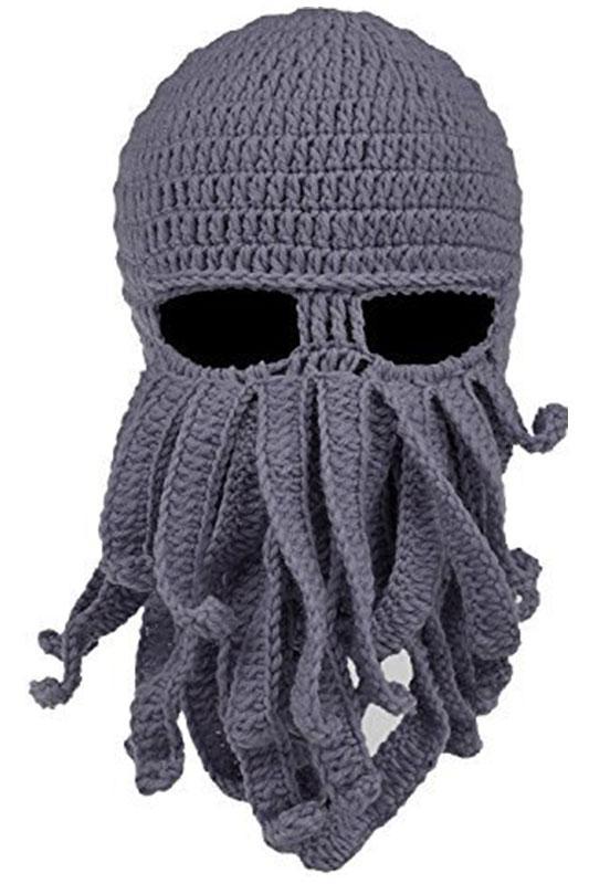 e8345a3e609 2019 Beard Hat Beanie Hat Knit Winter Warm Octopus Windproof Funny For Men    Women From Pearguo