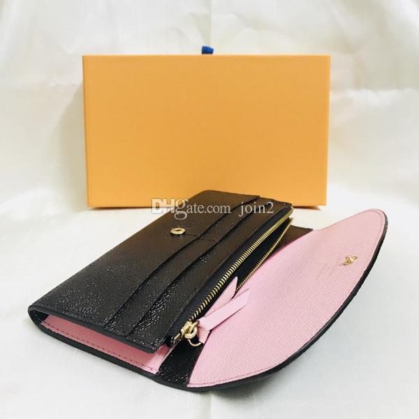 890e22ab55 Acquista M61289 Luxury Designer Long Emilie Brown Da Donna Portafogli In  Pelle Marrone Canguro Di Alta Qualità Prezzo All'ingrosso A $25.39 Dal  Join2 ...