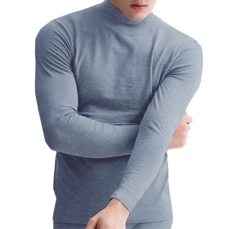 5c7b93df764c Turtleneck Warm T Shirt Men Brand Clothing Solid Long Sleeve High Collar Slim  Fitness T Shirt Male Quality Autumn Winter Tshirt Random T Shirts Poker T  ...