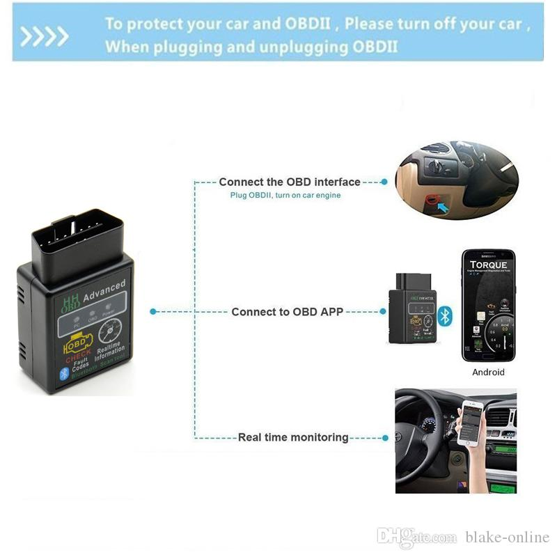 Bluetooth HH OBD ELM327 V2.1 Erweiterte MOBDII OBD2 EL327 BUS Check Engine Auto Selbstdiagnosescanner Codeleser Scan Tool Interface Adapter