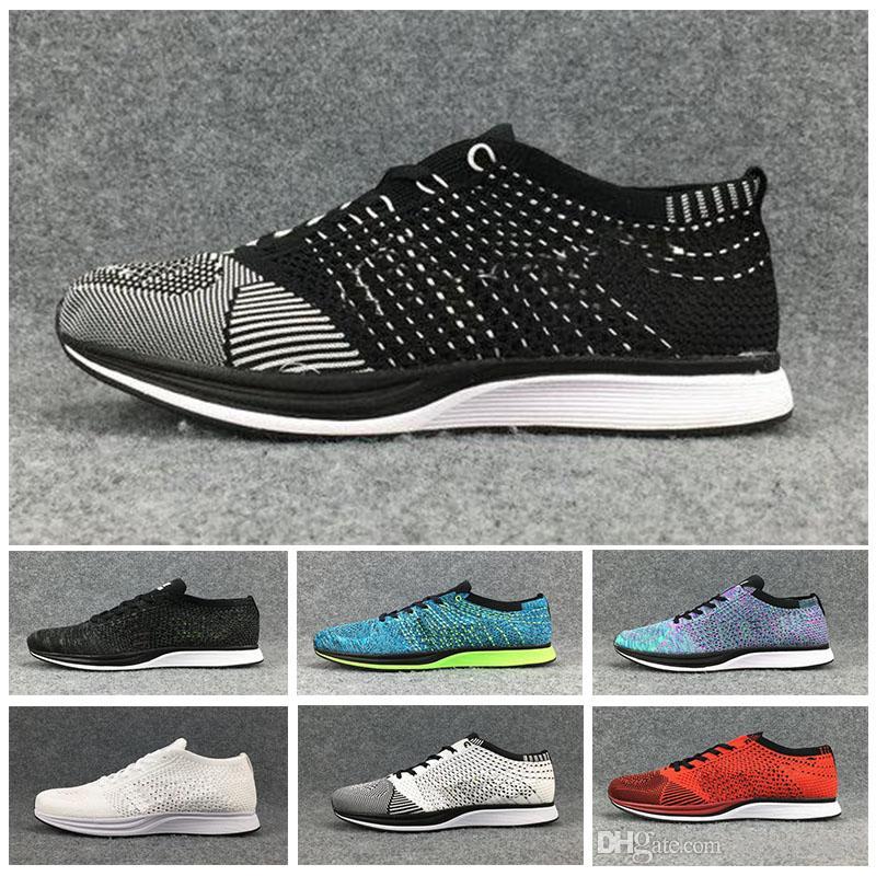 info for 9bf49 7b5ef Acheter 2018 Gratuit RN Nike Flyknit Racer 5.0 Sport Chaussures De Course  D origine Gratuit 5.0 Hommes Et Femmes Shock Absorption Formation Basket ...